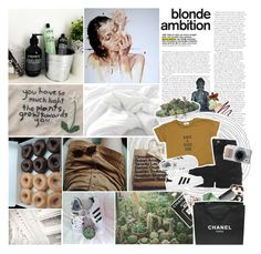 """have a good one"" by anythingbutjustx ❤ liked on Polyvore featuring Gods and Monsters, Assouline Publishing, VesseL, Clips, Sue Devitt, Topshop, adidas, Sephora Collection, Urban Decay and Chanel"