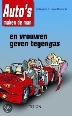 Auto'S Maken De Man En Vrouwen Geven Tegengas