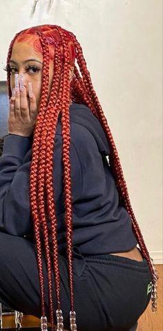 Box Braids Hairstyles For Black Women, Black Girl Braids, African Braids Hairstyles, Baddie Hairstyles, Braids For Black Hair, Girls Braids, Dreads, Dyed Natural Hair, Hair Flip