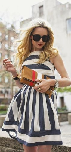 really great summer dress, love the shape of the bodice and the stripes, and shoulders - Summer Ready - Atlantic-pacific