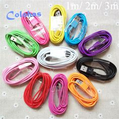 High Quality 1m 2m 3m 8 Pin USB Sync Data Charger Cable Cord for iPhone 6 6S Plus 5 5S 5G 5C SE IOS 9