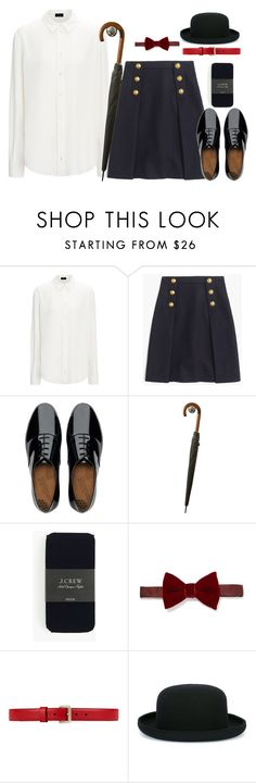 """marry poppins"" by hitthisfeeling ❤ liked on Polyvore featuring J.Crew, FitFlop, Lanvin, Gucci and Comme des Garçons"