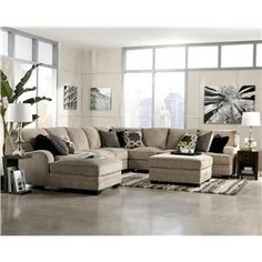 Katisha - Platinum 5-Piece Sectional Sofa with Left Chaise by Signature Design by Ashley - Miskelly Furniture - Sofa Sectional Jackson, Mississippi
