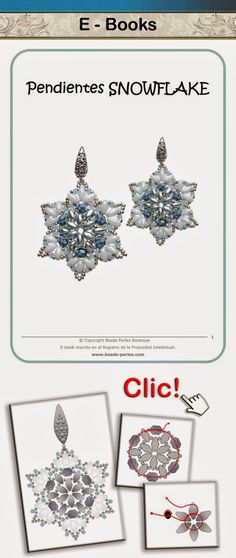 Beads Perles: NUEVO ESQUEMA!!! Pendientes Snowflake
