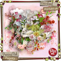 Precious Pink Page Kit by Booland Designs