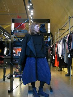 Issey Miyake skirt + Andrea Cortella sweater + Shu Moriyama Jacket + Trippen shoes AW 2015-16