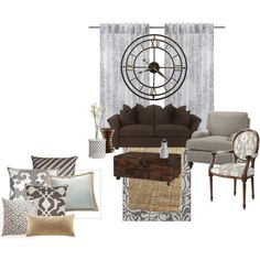 This cushion mix on my beige sofa?  The monochrome accents might work.....