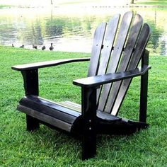 Westport Indoor/Outdoor Adirondack Chair in Black from the Outdoor Furniture Clearance event at Joss and Main!