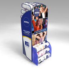 3D - Dispenser - Woman. Detalle. Cliente: Nivea / Beiersdorf. Diseño: Jorge Moreno Pos Display, Display Design, Display Shelves, Store Design, Point Of Purchase, Point Of Sale, Promotional Stands, Pos Design, Displays