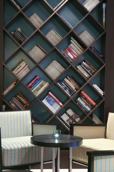 Good idea for the office bookcase from  Hotel Meninas