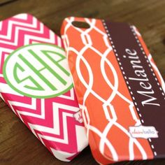 Love these Monogram Cell Phone Cases