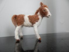 needle felted pony by woolinlegends on Etsy
