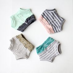 colorblock french terry shorties by childHOODS on Etsy, $35.00