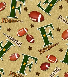 Snuggle Flannel Fabric-Football Beige & snuggle flannel at Joann.com