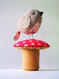 The Fat Sparrow & Terrific Toadstool PDF pattern by ThePaperShed