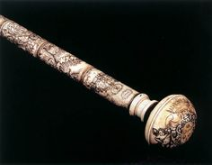 Baton with the Arms of Cardinal Leopoldo de' Medici  17th century  Engraved ivory, 150 cm  Museo degli Argenti, Florence