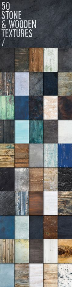 Stone & Wooden Textures - Part of The Neverending Bundle of Superior Quality Designs