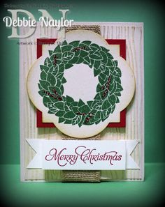 Unfrogettable Stamping | Wonderful Wreath Christmas card 2013-12-25  www.unfrogettablestamping.typepad.com