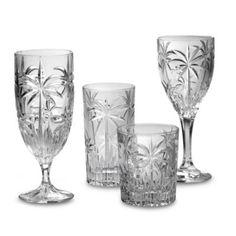 godinger dublin crystal shannon south beach palm stemware and barware
