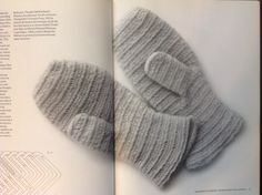 Nalbound mittens from Norway in Peter Collingwood's The Maker's Hand (1987), p. 24-25
