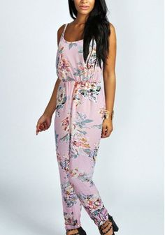 New Arrival Maxfancy Europe And New Sexy Suspenders Floral Chiffon Piece Pants Jumpsuit