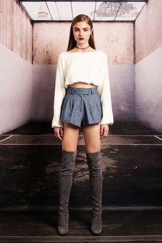The McAllister shorts in #denim . #stonecoldfox