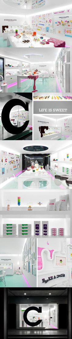 chocolate shop design LIFE IS SWEET