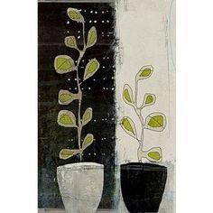 jardin by Linda Vachon Keramik Design, Illustrations, Illustration Art, Arte Floral, Art Plastique, Mixed Media Art, Painting Inspiration, Textile Art, Collage Art