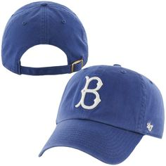 f5e3f11685f Brooklyn Dodgers  47 Brand 1939 Cooperstown Collection Basic Logo Cleanup  Adjustable Hat - Royal Blue