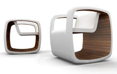 So.Much.Fun! I would love to rock in this chair!   The Rocking Cube by Jessica Nebel Is a Modern Rocking Chair