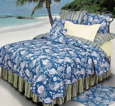 our bedding ...it has fun stripes on the reverse so you can flip it!  also comes in light blue, tans and coral colors.