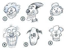 Simple clown drawing easy creepy drawings ideas about creepy Creepy Drawings, Cartoon Drawings Of People, Disney Drawings, Drawing People, Easy Drawings, Cartoon Drawing Tutorial, Cartoon Girl Drawing, Drawing Cartoons, Funny Cartoon Images