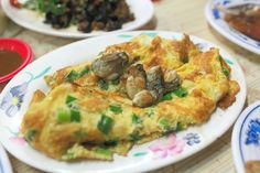 oyster omelette | Taiwanese cuisine