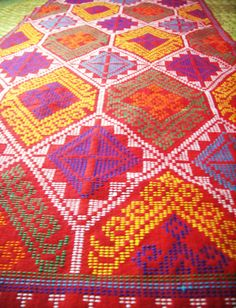 Yakan tribe hand-woven fabric now available Textile Patterns, Print Patterns, Textiles, Philippines Culture, Filipino Culture, Culture Clothing, Indigenous Tribes, Woven Fabric, Bohemian Rug