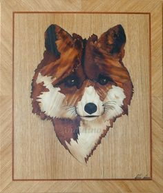 Fox marquetry to order by Andulino
