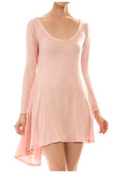 Scoop Neck Long Sleeve Dress | Style Gather