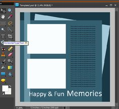 tutorial for making your own digital templates | Katie the Scrapbook Lady via The Daily Digi