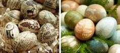 diy decoupaged eggs-Easter Egg Decorating Party Setup | Pottery Barn