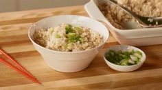 Watch this clever technique to cook brown rice in advance to add to any recipe calling for cooked rice.  /
