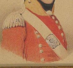 Relics of the War of 1812- Miniature portrait of an officer- 62nd (Wiltshire) Regiment of Foot- 1st Battalion in Nova Scotia from August 1814 and to Castine, Maine and back to Halifax until 1823. Main engagements: Penobscot, Castine, Hampden. Buff facings, silver buttons set in pairs for officers, no lace. Men's lace white with two blue and a purple centre stripe, squared ended and set in pairs. A July 1815 inspection at Halifax reported some 148 bearskin caps for the regiment's grenadiers.