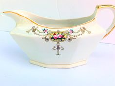 Antique French China Company Porcelain Gravy