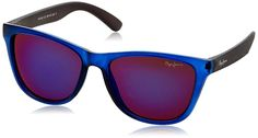 Pepe Jeans UV Protected Wayfarer Unisex Sunglasses - (PJ7242C2|55|Blue lens): Amazon.in: Clothing & Accessories