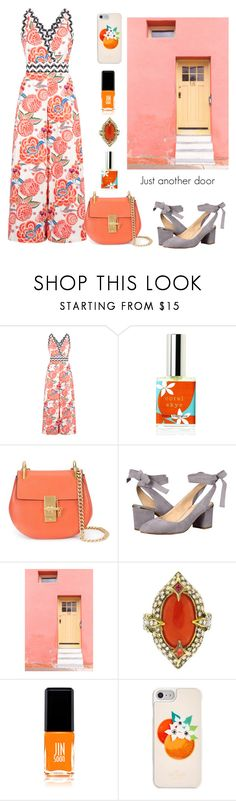 """just another door"" by felicitysparks ❤ liked on Polyvore featuring Temperley London, Chloé, Nine West, Cathy Waterman, JINsoon and Kate Spade"