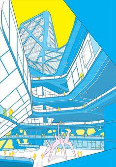 "Dane STOKES & Greg WHITNEY, ""X-Point City"", University of Pennsylvania, ritics: Neil DENARI & John SCELSA."