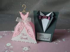 Bridal Wedding Table Cards Wedding Gown Table by SarayaWedding