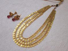 Laxmi Coin Long Necklace Set