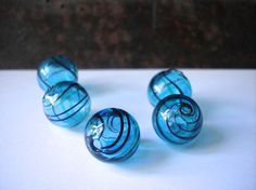 15mm hand blown hollow glass beads by allthatglittersbeads on Etsy, $3.80