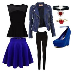 """""""Evie from descendants look"""" by malaea320 on Polyvore"""
