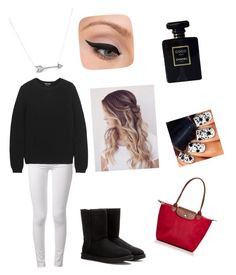 tenue n°8 !  by lucie-hope on Polyvore featuring polyvore, fashion, style, Tom Ford, rag & bone, UGG Australia, Longchamp, Adina Reyter, LORAC and Chanel