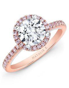 Natalie K Le Rosé Collection - NK28671PK-18WR Engagement Ring photo